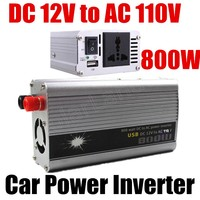 Hot sale modified sine wave voltage transformer with USB charger Car inverter 800W DC 12V to AC 110V converter