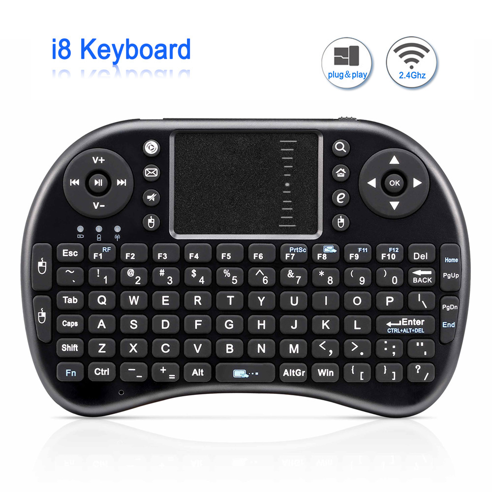 Mini <font><b>Wireless</b></font> <font><b>Keyboard</b></font> <font><b>i8</b></font> Russian English Version Air Mouse Mini Touchpad QWERTY <font><b>Keyboards</b></font> Lithium battery For Android TV BOX image