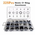 18 Sizes 225Pcs New Tool Rubber Metric O Ring O-Ring Washer Seals Assortment Black For Car Auto Vehicle Repair