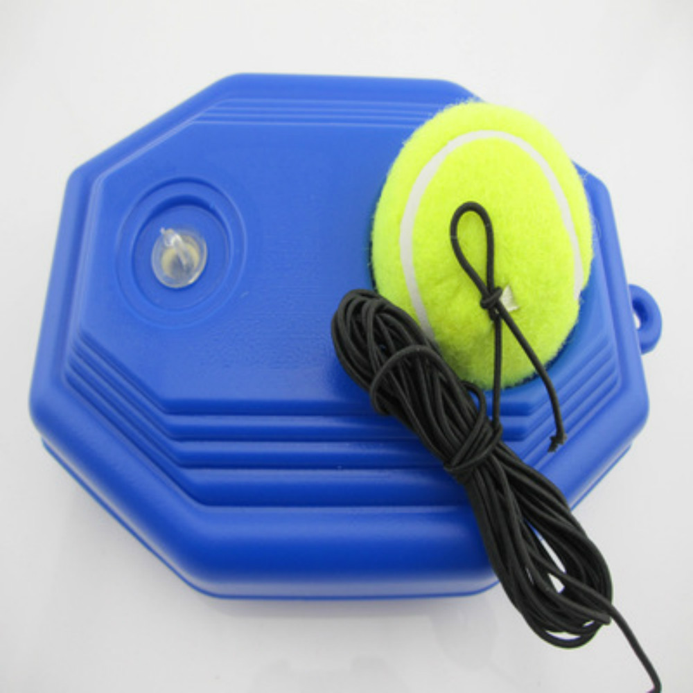 Tennis Trainer Elasticity Rubber Woolen Trainer Tennis Ball With String For Single Self-study Rebound Practice Training