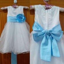 Платья для девочек с натуральными цветами и поясом праздничное