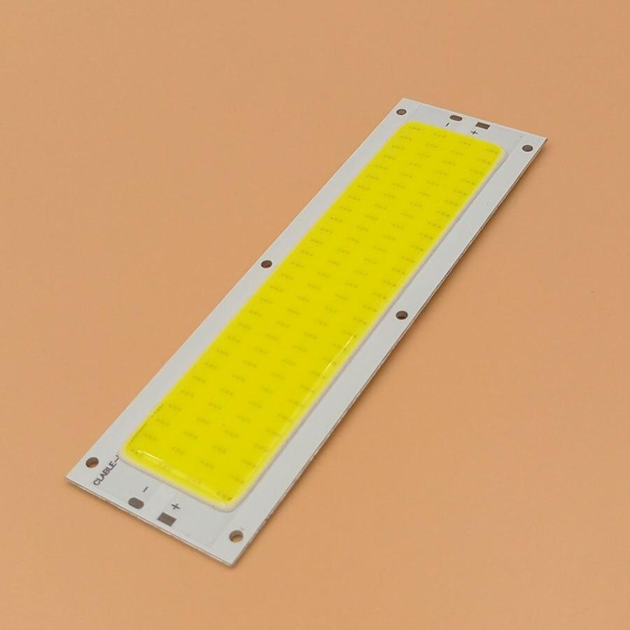 Big Promotion !!! Ultra Bright 1000LM 10W COB LED Light Strip 12V DC for DIY Car Lights Work Lamps Home Bulbs 120*36MM LED Chip