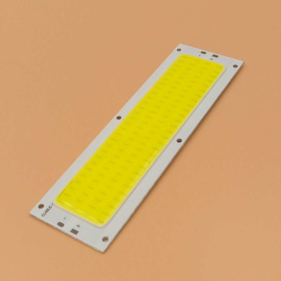 Big Promotion !!! Ultra Bright 1300LM 12W COB LED Light Strip 12V DC For DIY Car Lights Work Lamps Home Bulbs 120*36MM COB Chip