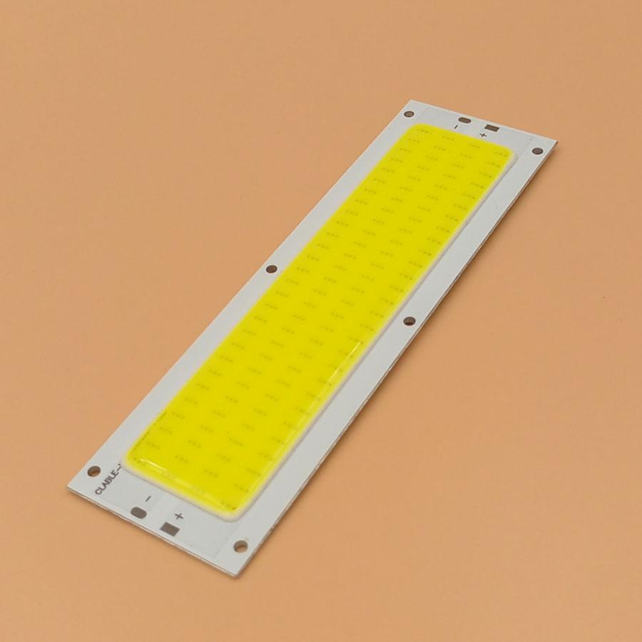 Big Promotion !!! Ultra Bright 1300LM 12W COB LED Light Strip 12V DC For DIY Car Lights Work Lamps Home Bulbs 120*36MM COB Chip