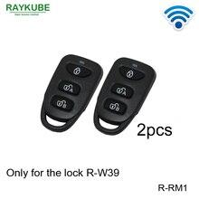 RAYKUBE R RM1 llaves de Control remoto inalámbricas, funciona con nuestro R W39 de cerradura eléctrica, 2 uds.