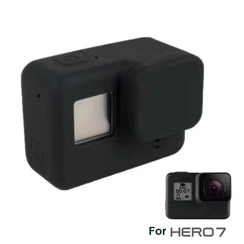 Lente de Silicona Gopro Accesorios Cubierta Protectora para Cámara Gopro Hero 6 5 Negro