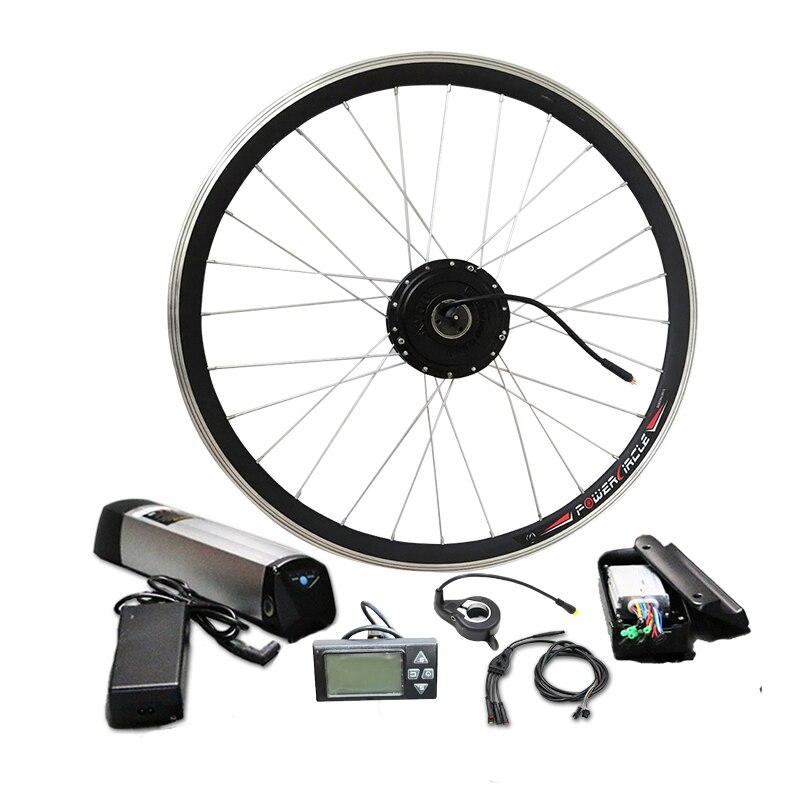 Лучшая цена $219 простой электрический велосипед комплект с 36 В Батарея E велосипед комплект MTB 250 Вт 350 Вт 500 Вт концентратор мотор дополнитель...