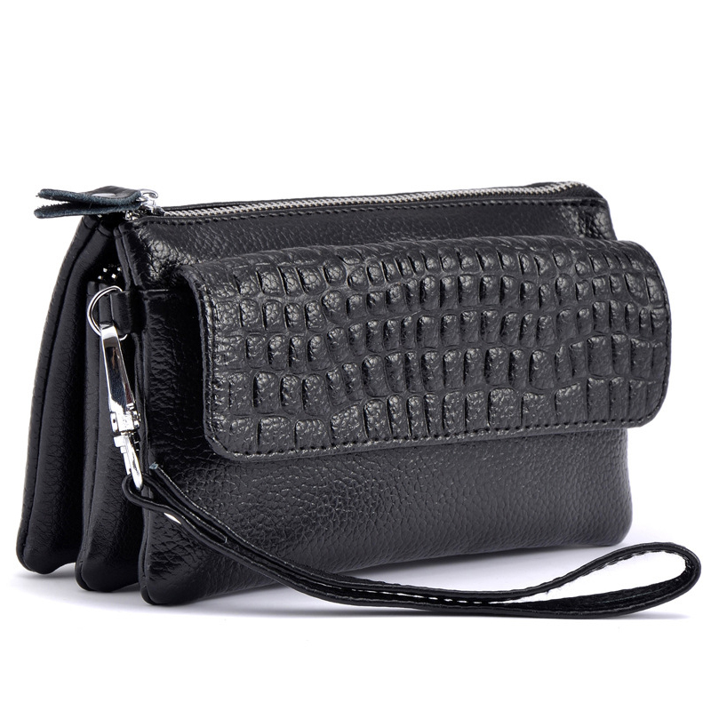 Female 2017 Cowhide Split Leather Wallet Women Cosmetic Phone Clutch Hand Shoulder Bags Ladies Zipper Card Holder Purse Wallets coneed fashion women coins change purse clutch zipper zero wallet phone key bags j27m30