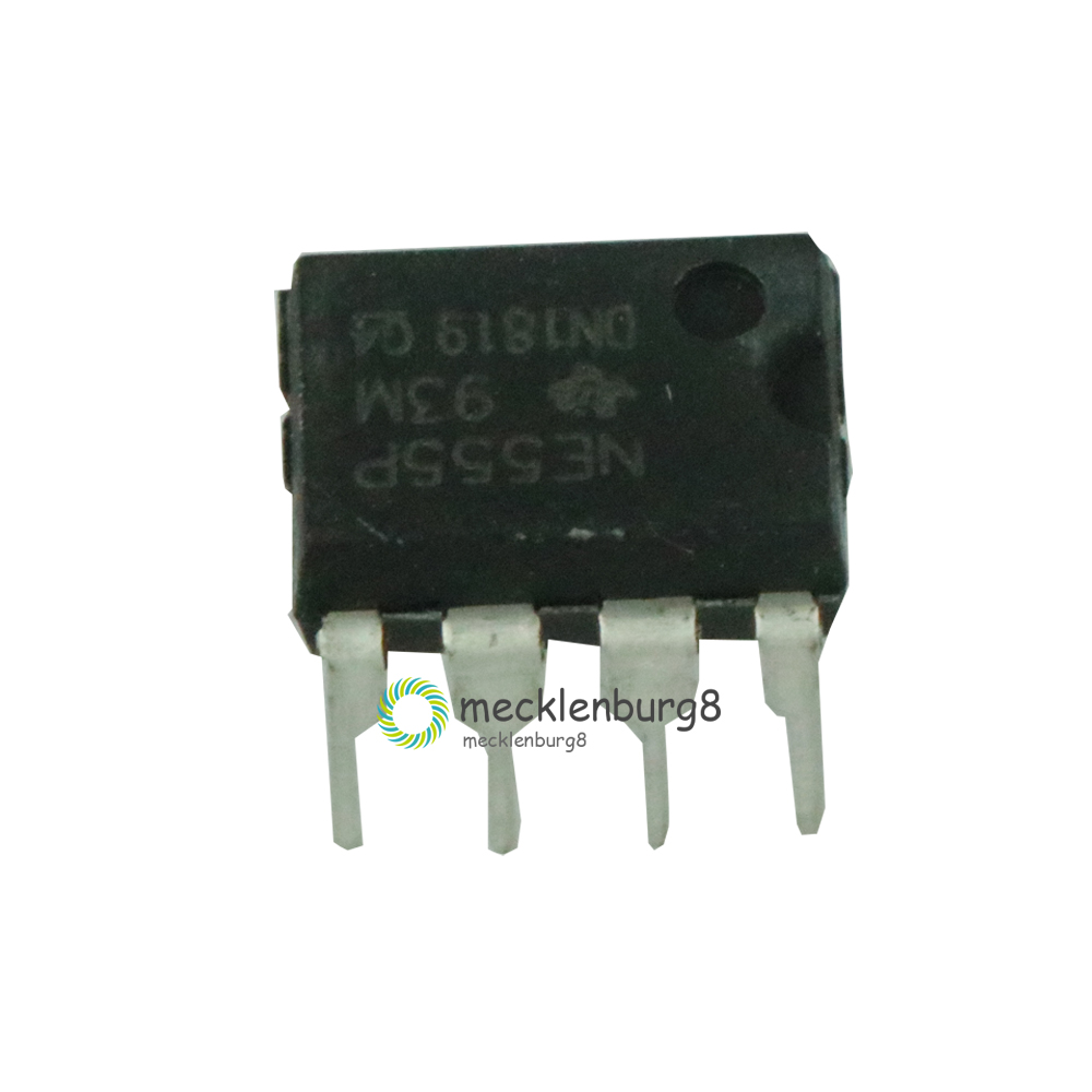 10 Pieces. New NE555 NE555P NE555N 555 DIP-8 Timers Single Bipolar Chip Timers