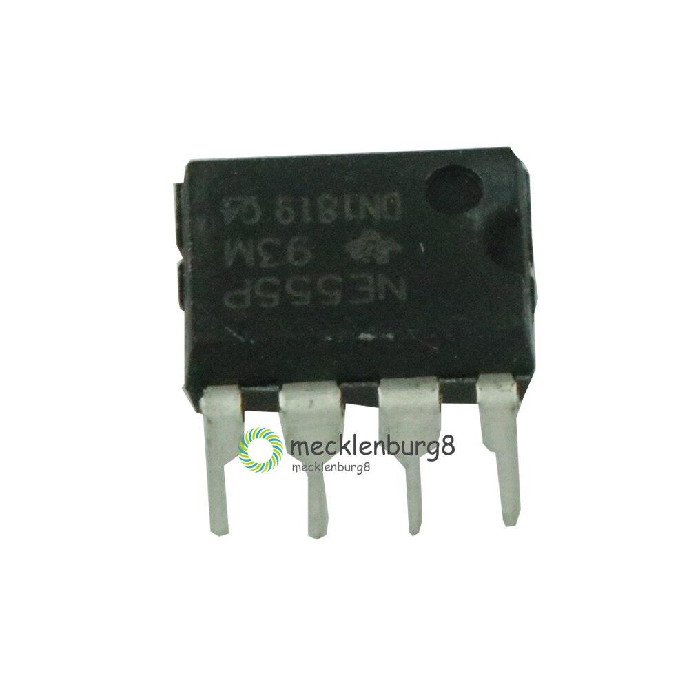 10 Pieces. New NE555 NE555P NE555N 555 DIP-8 Timers Single Bipolar Chip Timers