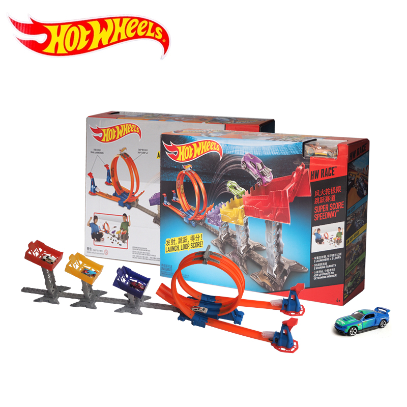 Hot Wheels Limit Jump Track Toy Kids Electric Toys Square City Miniature Car Model Classic Antique Cars Hotwheels DJC05 in Diecasts Toy Vehicles from Toys Hobbies
