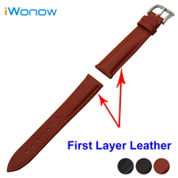 First Layer Genuine Leather Watch Band 18mm 20mm 22mm For MK Stainless Buckle Strap Quick Release