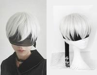 NieR Automata 9S Silver White Wig YoRHa No 9 Model S Men Anime Cosplay Wig With