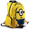 Despicable Me niños de la historieta Minion amarillo niño bolsa mochila para niños mochilas escolares para los estudiantes 16 ''mochila