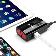 BESTEK 150 Вт Авто Инвертор 3.1A 2 Порта Dual USB Автомобиля Зарядное устройство DC 12 В В ПЕРЕМЕННОЕ 110 В США Выход Portable Power питания