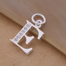 Letter A-S  Free Shipping silver plated Necklace, Stamp 925 fashion silver jewelry Fashion Pendant /XYLQNNAG XYLQNNAG