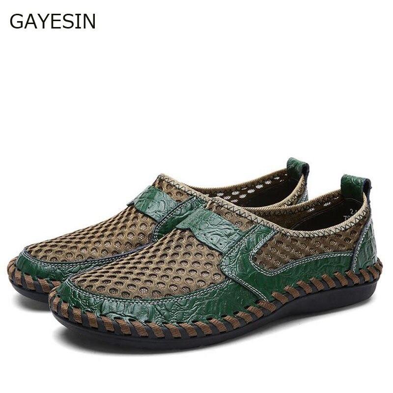 Men Fashion Leather Sandals Plus Size 45 46 47 48 Casual Slip-on Summer Shoes 5 Colors Size 38-48 sandalias hombre