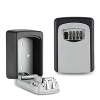 Small Metal Secret Safe Box Key Storage Organizer Boxes With 4 Digit Wall Mounted Combination Password