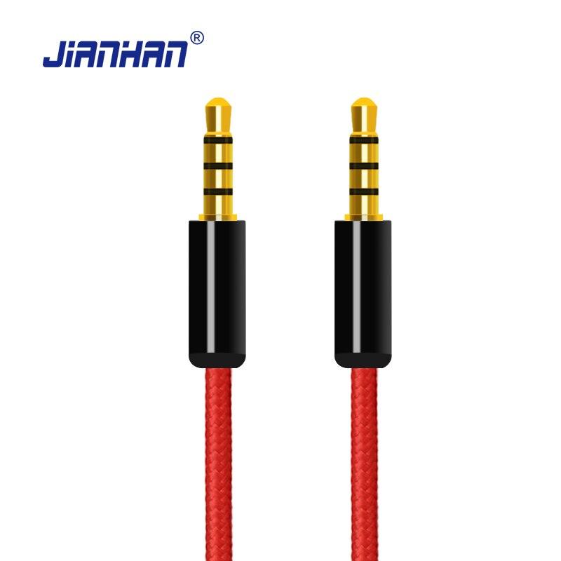 font b Aux b font Audio Cable 3 5mm 24K Gold Plated Jack Car Audio