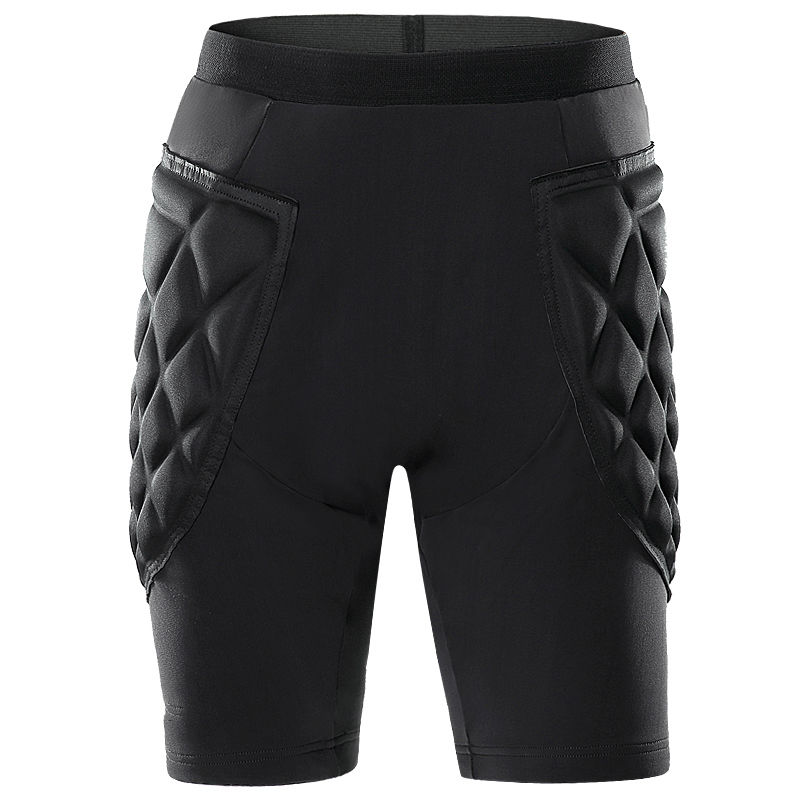 New Mens Sport Short Pants Crashproof GK Goal Keeper Goalie Padded Adult Shorts