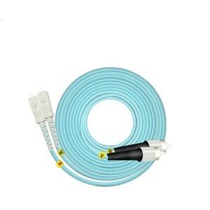 Image 5 - 15 m LC SC FC ST UPC OM3 Cavo Patch In Fibra Ottica Duplex Ponticello 2 Core Patch Cord Multimode 2.0mm In Fibra Ottica Patchcord