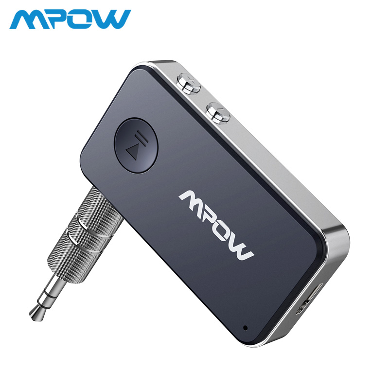 Mpow BH051 Bluetooth 5.0 Receiver 3D Surround Stereo 10H Playing Time With Quick Charging & Voice Assistant For Car/Home Audio