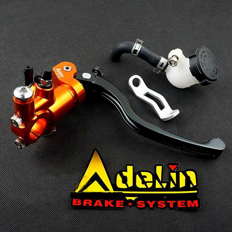 CNC 4 color aluminium ebike motorbike brake clutch levers Pump universal motorcycle brake master cylinder automatic power