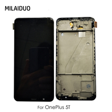 LCD Display For Oneplus 5T One Plus 1+ A5010 Incell Touch Screen Digitizer Assembly Replacement Black With Frame 100% Tested