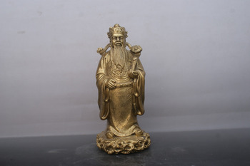 Chinese old bronzes Ruyi the god of wealth copper Statue