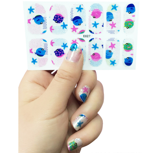 New Fashion Fish Star Glitter Sticker Decal Water Transfer Sticker ...
