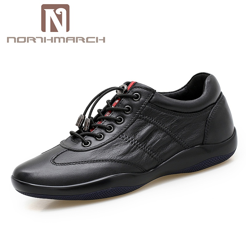 NORTHMARCH 2018 Spring/Summer Fashion Genuine Leather For Men Designer Shoes Casual Ultralight Breathable Mens Shoes Sneakers northmarch brand genuine leather men casual shoes fashion style leather men shoes designer casual shoes for sneakers men summer