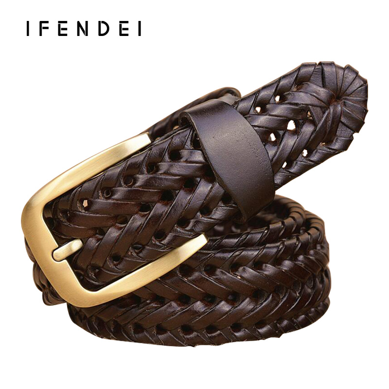 IFENDEI Genuine Leather Belts For Men Des