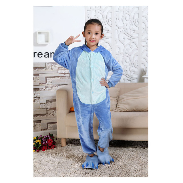 Little Bitty cartoon stitch blanket sleeper baby animal pig tiger spiderman dinosaur owl giraffe kigurumi kids girl boys pajamas