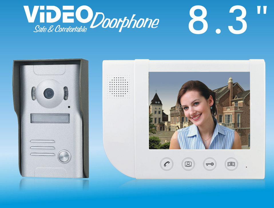 ZHUDELE Home security doorbell 8.3 video door phone metal die-casting ,waterproof explos ...
