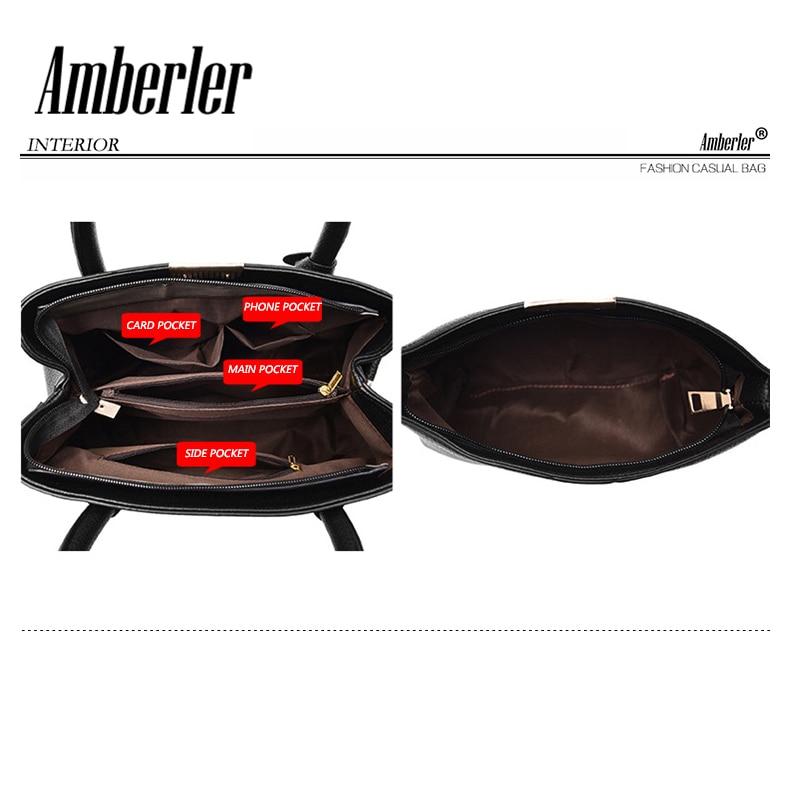 Amberler Women Handbag Luxury Handbags Women Bags Designer PU Leather Bag For Ladies Hand Bag Big Casual Tote Shoulder Set Bag 2