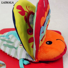 Baby Rattles Mobiles Toys Soft Animal Fish Cloth Book Newborn Baby Carriage Hanging Toy Bebe Early Learning Educate Baby Toys(China)