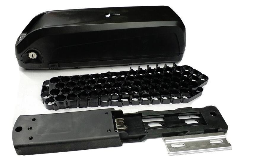 48 V 36 V hailong boîtier en plastique avec support vélo batterie bricolage boîte avec USB 5 V peut contenir 65 pièces 18650
