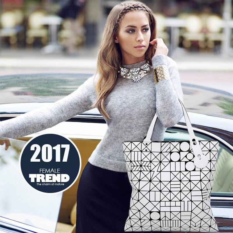 2018 Luxury Brand Handbag Bags High Quality European Style Women Hand Bag Big Laser Geometric Totes Bag Women