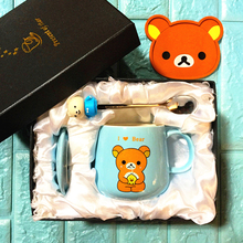 OUSSIRRO Cute Creative Cat Kitty Ceramic Mugs Cup Tea Milk Coffee Cartoon Kitten / Totoro Home Office Fruit Juice