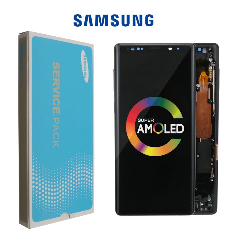 ORIGINAL SUPER AMOLED 6 4 LCD with frame for SAMSUNG GALAXY Note 9 Note9 N960F Display