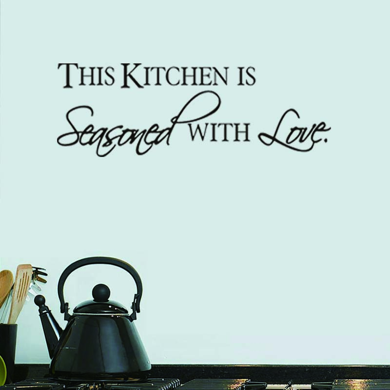 The Kitchen Seasoned With Love Characters Wall Stickers Modern Vinyl  Waterproof Wallpaper Adesivos Kitchen Dinner Room