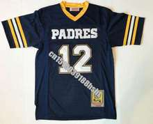 Mens  12 Brady High School Throwback Football Jerseys Stitched Name Number  Top Quality Customzied Jersey 774a46e3a