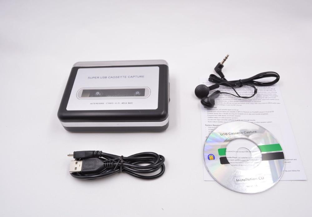 REDAMIGO MP3 cassette capture à MP3 USB Capture de Cassette de Bande pour PC Super Cassette à MP3 Convertisseur Cassette-to-MP3 EZ218