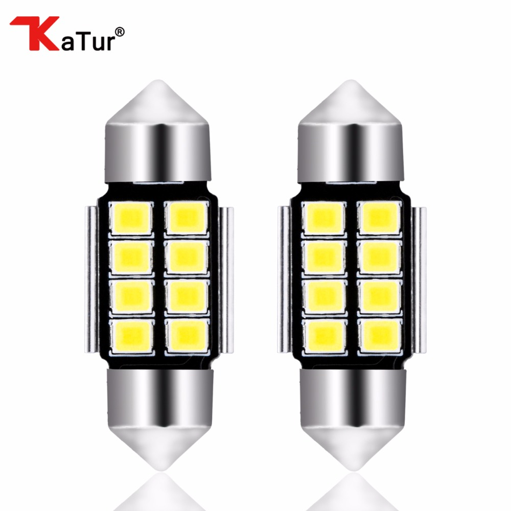 2pcs 1.25'' 31mm DE3175 DE3021 DE3022 6428 7065 LED Festoon Car Interior Lights 5630 Chipsets Aluminum CanBus Error Free Car Led