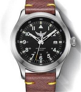 Image 2 - Часы Yelang Мужские кварцевые в стиле милитари, триций T100 Ronda Move t, литиевая батарея, авиаторы WR100M, сапфировые, из натуральной кожи