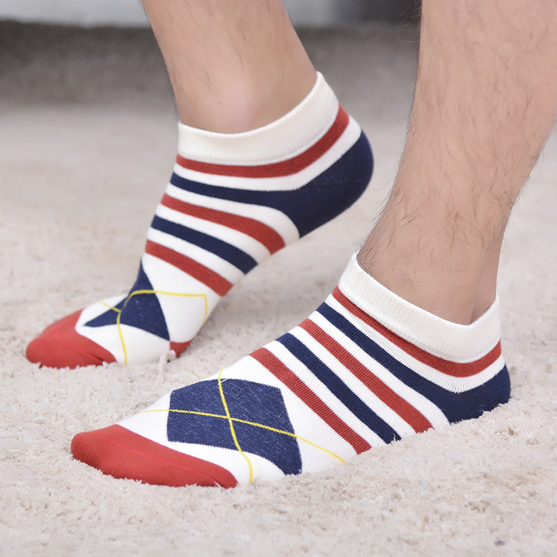 5pairs/lot Leisure Cotton Men Socks Good Quality Short Socks Warm Casual Men Socks British Style Color Invisible Socks for Male