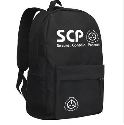 Anime Cyuunibyou SCP Foundation unisex students backpack cosplay travel  bagsAnime Cyuunibyou SCP Foundation unisex students backpack cosplay travel  bags