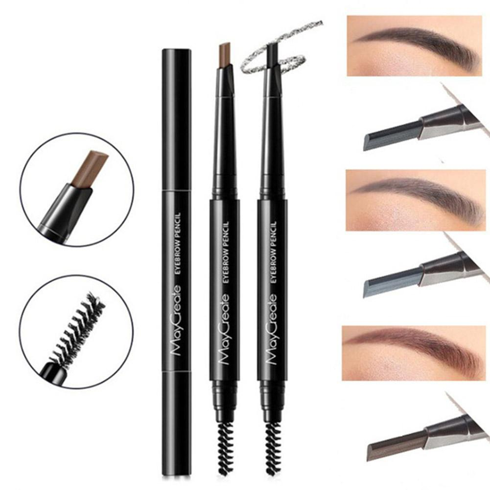 Fashion Double Head Eyebrow Liner Pencil with Brush Sweatproof Long Lasting Makeup Tools Supplies