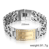 Hot Sales Cubic Zircon Bracelets For Men With Men Bracelet Titanium Steel Trendy Man Cross Bracelets