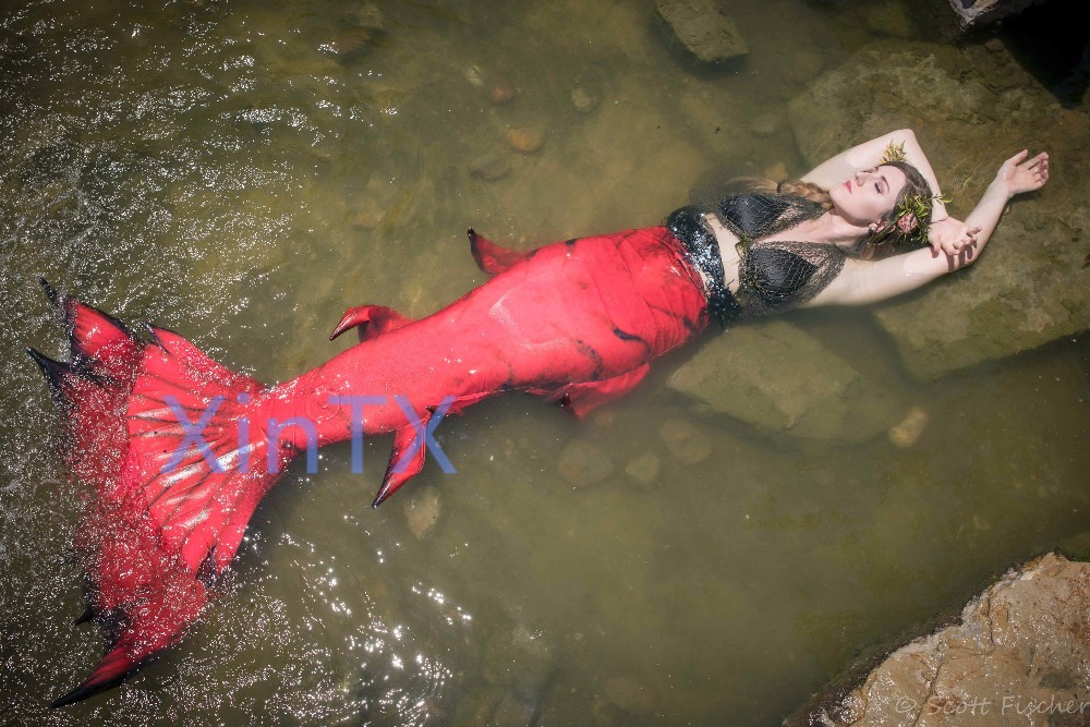 2018 HOT Kids Adult Mermaid Tail with monofin Swimmable Filpper Costume for Women Cosplay Costumes Swimming